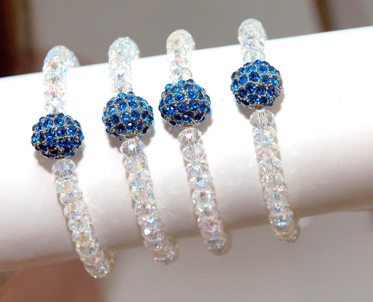 Sale Set Of Four Bridesmaids Bracelets Something Blue Bracelets