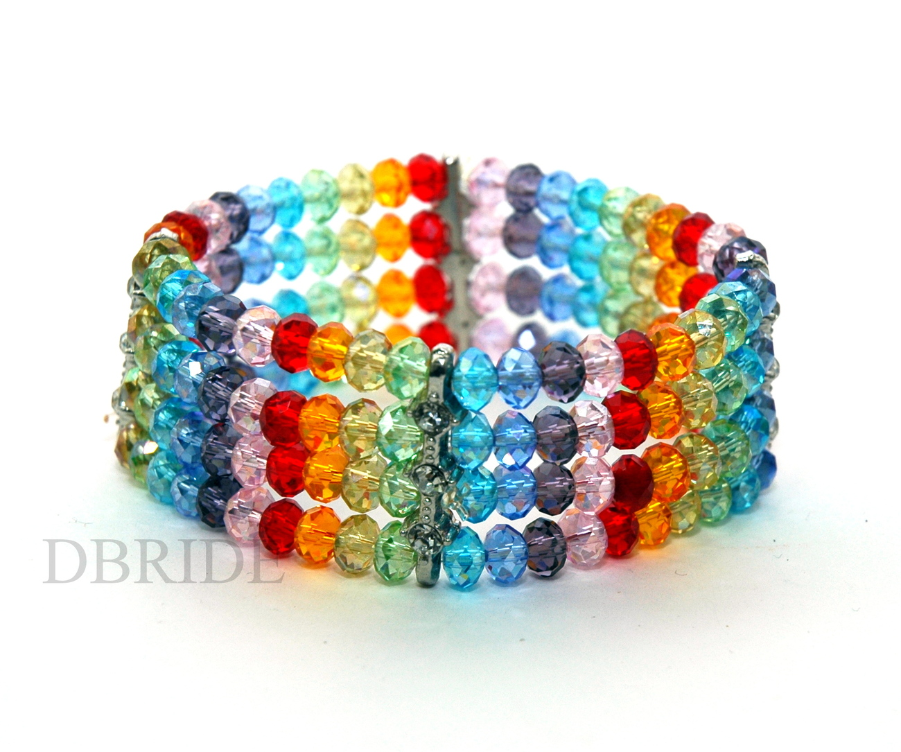 adjustable bracelet summer closure with colorful wrapped